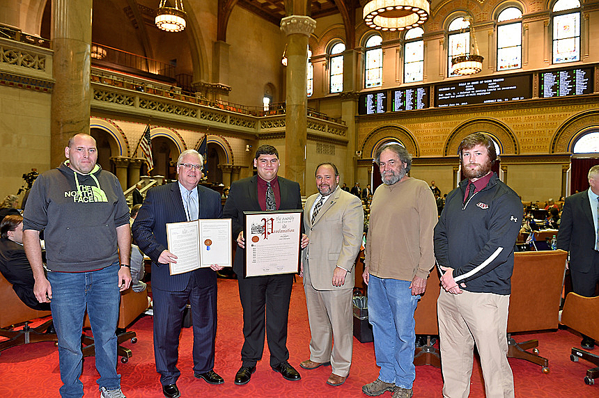 slideshow O'Mara, Palmesano Welcome Odessa-Montour High School Wrestling Champion To the Capitol
