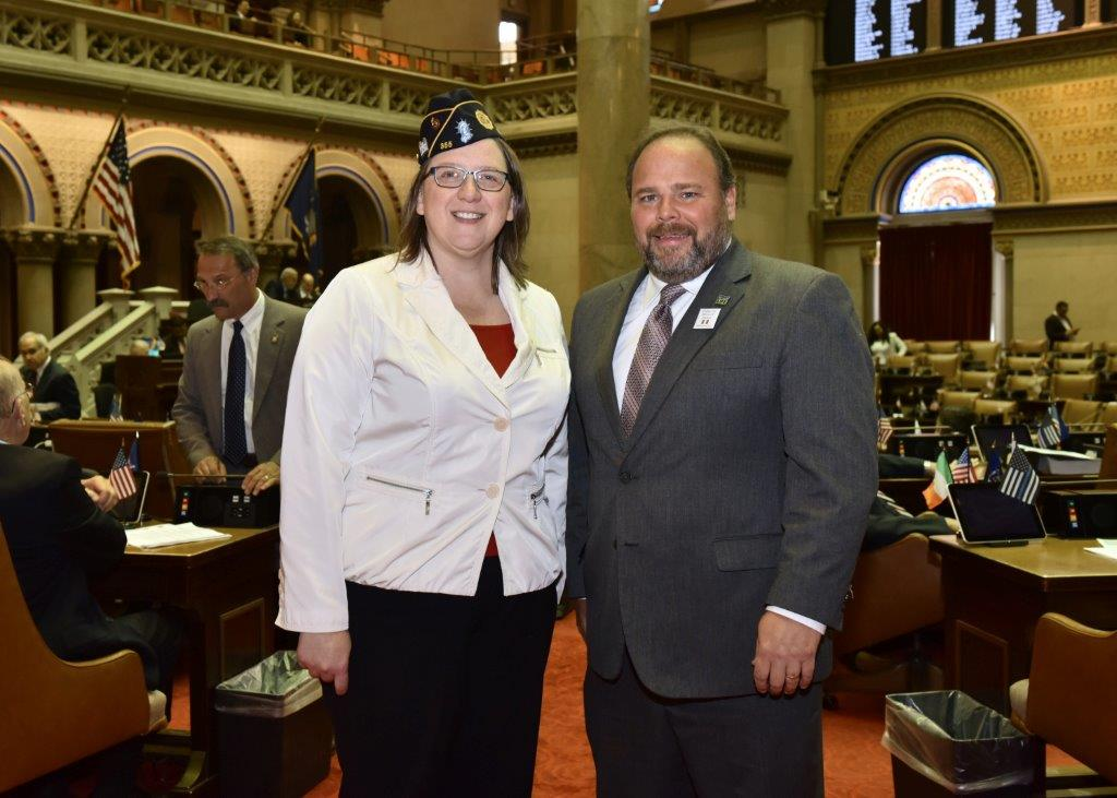 Carrie Ahearn of Penn Yan with Assemblyman Phil Palmesano (R,C,I-Corning).