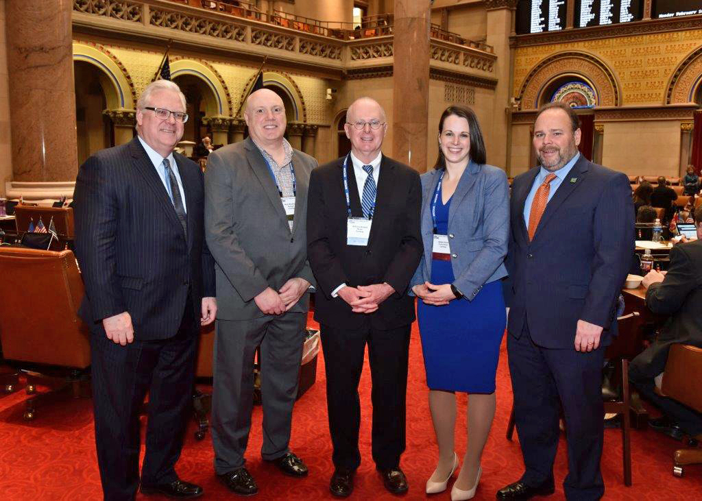 Senator Tom O'Mara (R,C,I-Big Flats) and Assemblyman Phil Palmesano (R,C,I-Corning) met with Corning Mayor Bill Boland, Corning City Manager Mark Ryckman and Corning City Councilmember Alison Hun