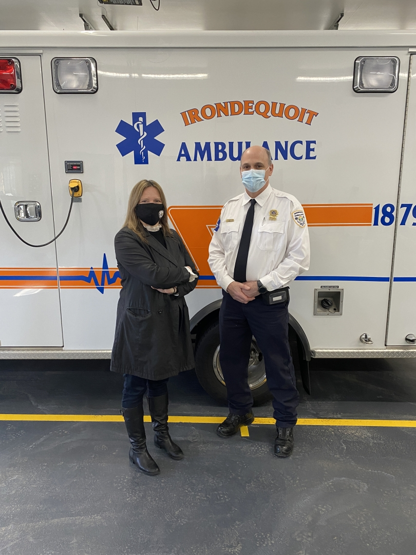 Assemblywoman Clark and Irondequoit Ambulance Chief Thomas Kirchoff