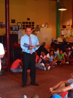 Assemblymember Bronson visited the North East Development Freedom School, which runs a terrific summer educational and reading program for kids in Rochester. Assemblymember Bronson had a great time be