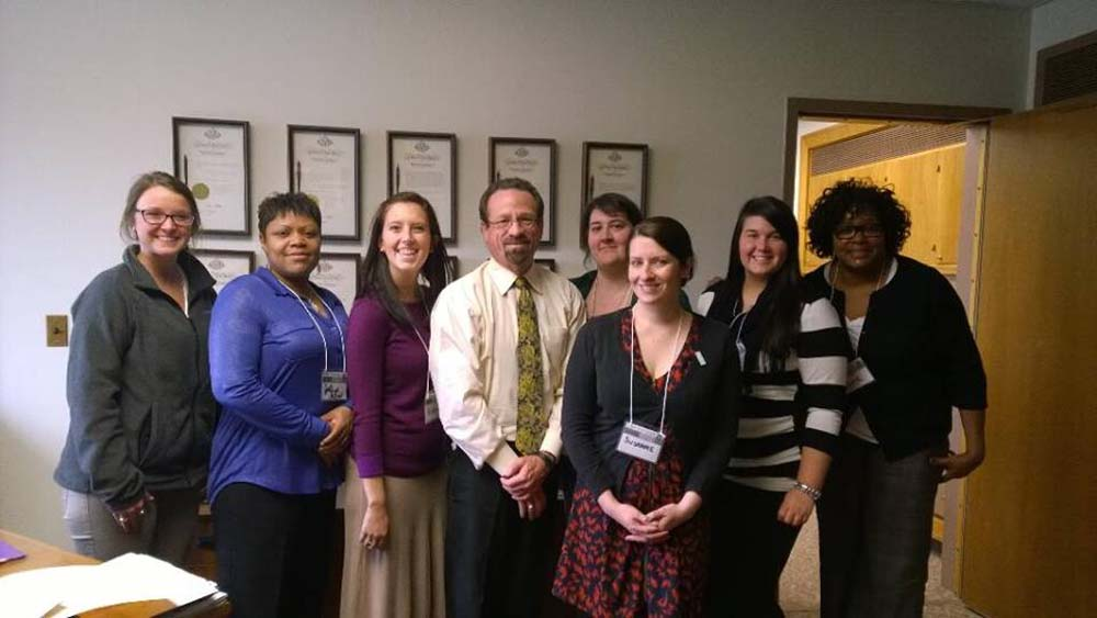 Assemblymember Bronson with representatives from Alternatives for Battered Women (ABW), a Rochester-based nonprofit organization dedicated to helping women subjected to domestic violence.