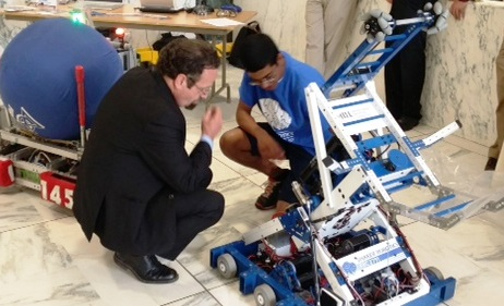 Assemblymember Harry Bronson was pleased to have members of FIRST Greater Rochester Robotics Team 340 in Albany to host his first Robotics Fair. There was boundless talent on display by high school st