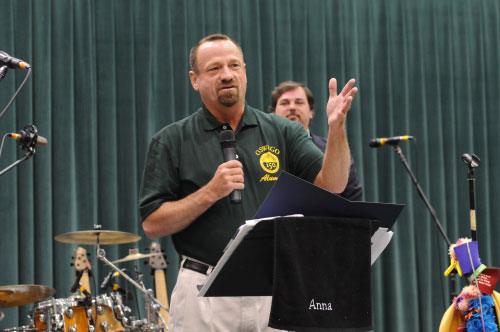Assemblymember Bronson attended SUNY Oswego's 150th Birthday at the 