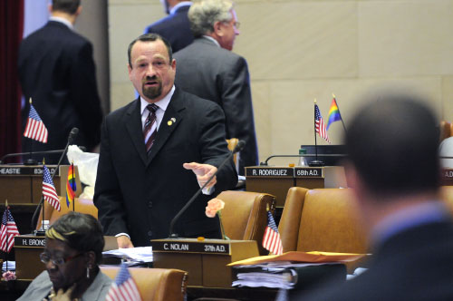 Assemblymember Bronson discusses legislation that will require agencies to conduct a cost comparison between state agencies and outside consultants to determine which group would make the most financial sense for the state of New York.