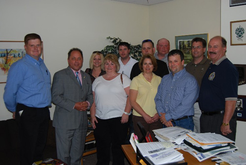2008 Local Government Conference attendees visit Assemblyman Steve Hawley at the LOB in Albany.