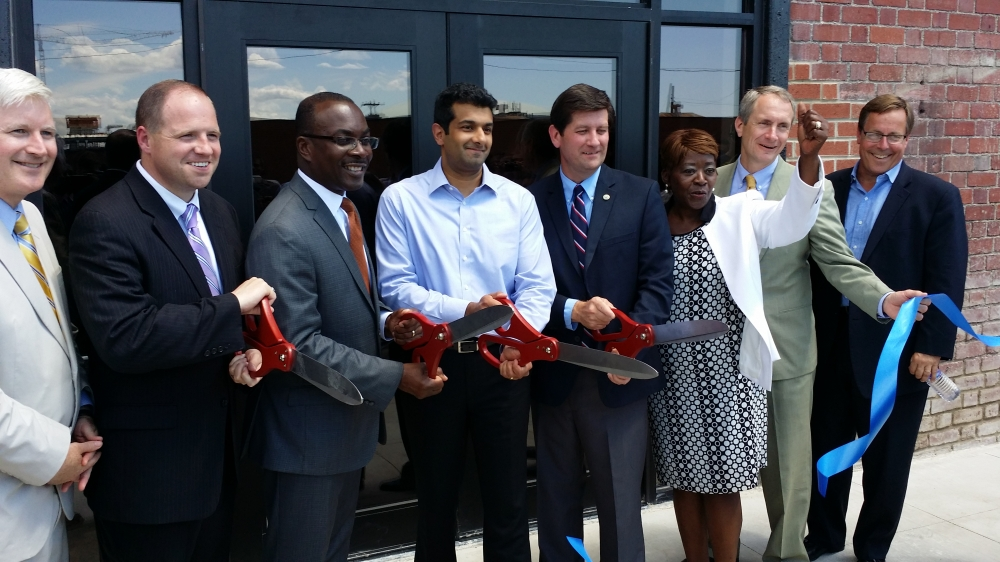 July 10, 2014 - Assemblywoman Peoples-Stokes at the Liazon ribbon cutting ceremony; part of Buffalo�s growing Information Technology sector.