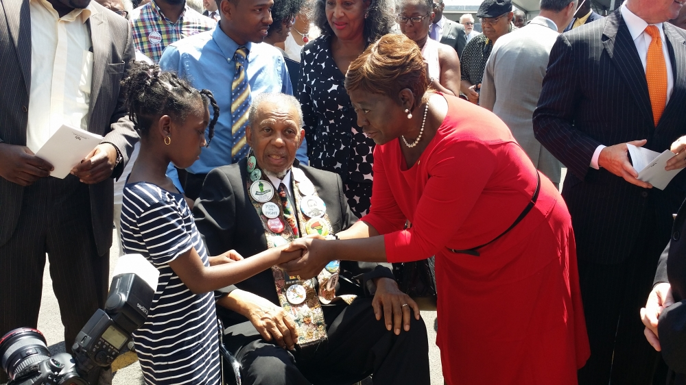 June 30, 2014 - Assemblywoman Peoples-Stokes at the Arthur O. Eve Educational Opportunity Center; the $26 million project was completed and focuses on helping students accomplish their goals through higher education.
