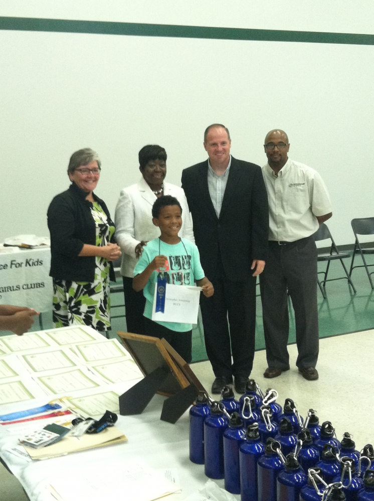 July 31, 2014 - Assemblywoman Crystal Peoples-Stokes and Senator Tim Kennedy attend the Buffalo Boys and Girls Club spelling bee. Also acknowledging the Campaign Kickoff for �Great Futures.