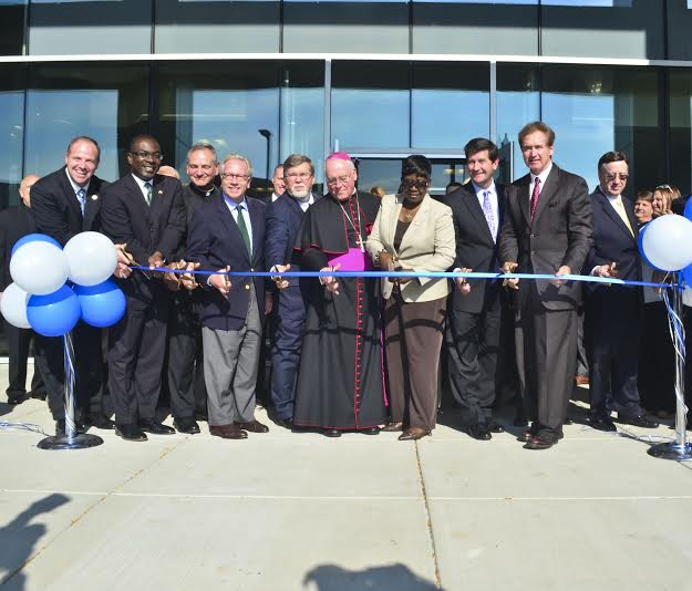 October 2nd 2014 � Assemblywoman Crystal Peoples-Stokes at the ribbon cutting for the Catholic Health Headquarters in downtown Buffalo.