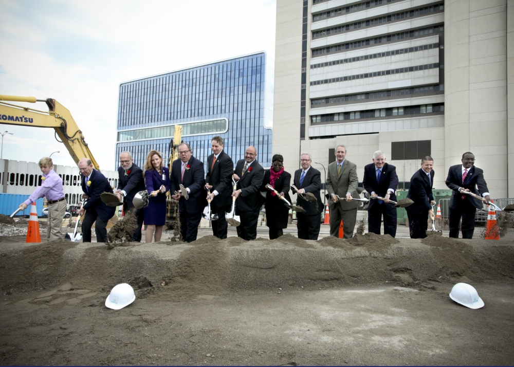 October 8th 2014 � Assemblywoman Crystal Peoples-Stokes at the groundbreaking of the new John R. Oishei Children�s Hospital in downtown Buffalo.