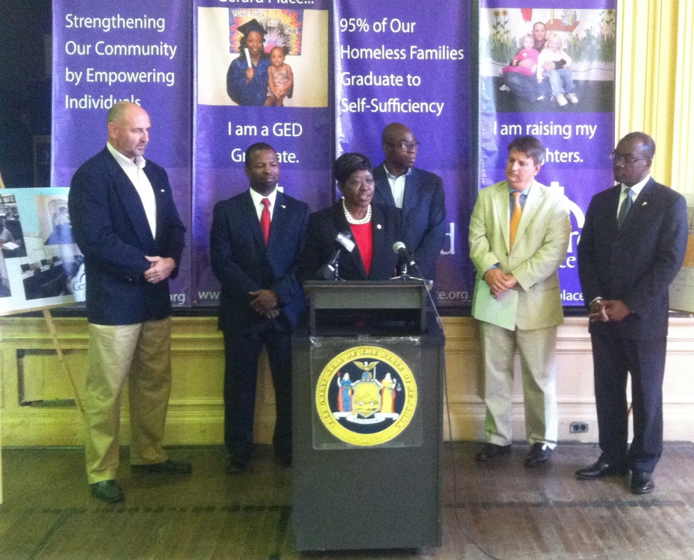 September 8, 2014 � Assemblywoman Crystal Peoples-Stokes announces $500,000 in capital funding for Bailey Avenue, $250,000 for Gerard Place and $250,000 for Streetscape Improvements.
