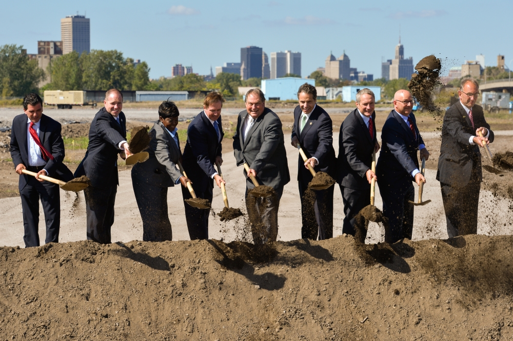 September 23, 2014 � Assemblywoman Crystal Peoples-Stokes at the groundbreaking for Riverbend site in South Buffalo.