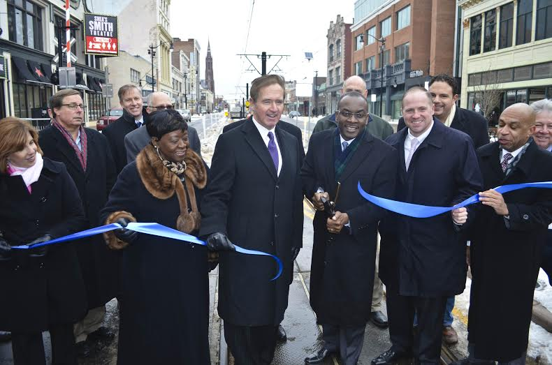 January 23, 2015 �  Assemblywoman Crystal Peoples-Stokes at the historic return of vehicles to Main Street�s 600 Block in the heart of the Queen City.