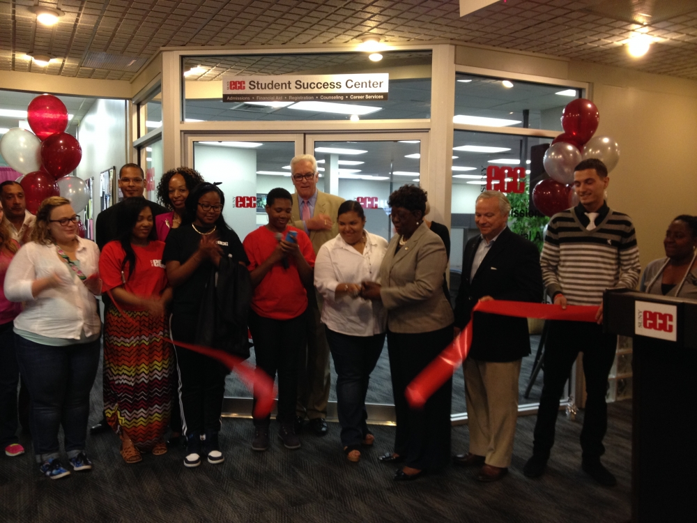 June 12, 2015 - Assemblywoman Peoples-Stokes attends a ribbon cutting ceremony to open the new Erie Community College City Campus Student Success Center. Located at 45 Oak Street the Center will streamline and strengthen City Campus's services by consolidating its Admissions, Financial Aid, Registration, Counseling and Career Services offices.