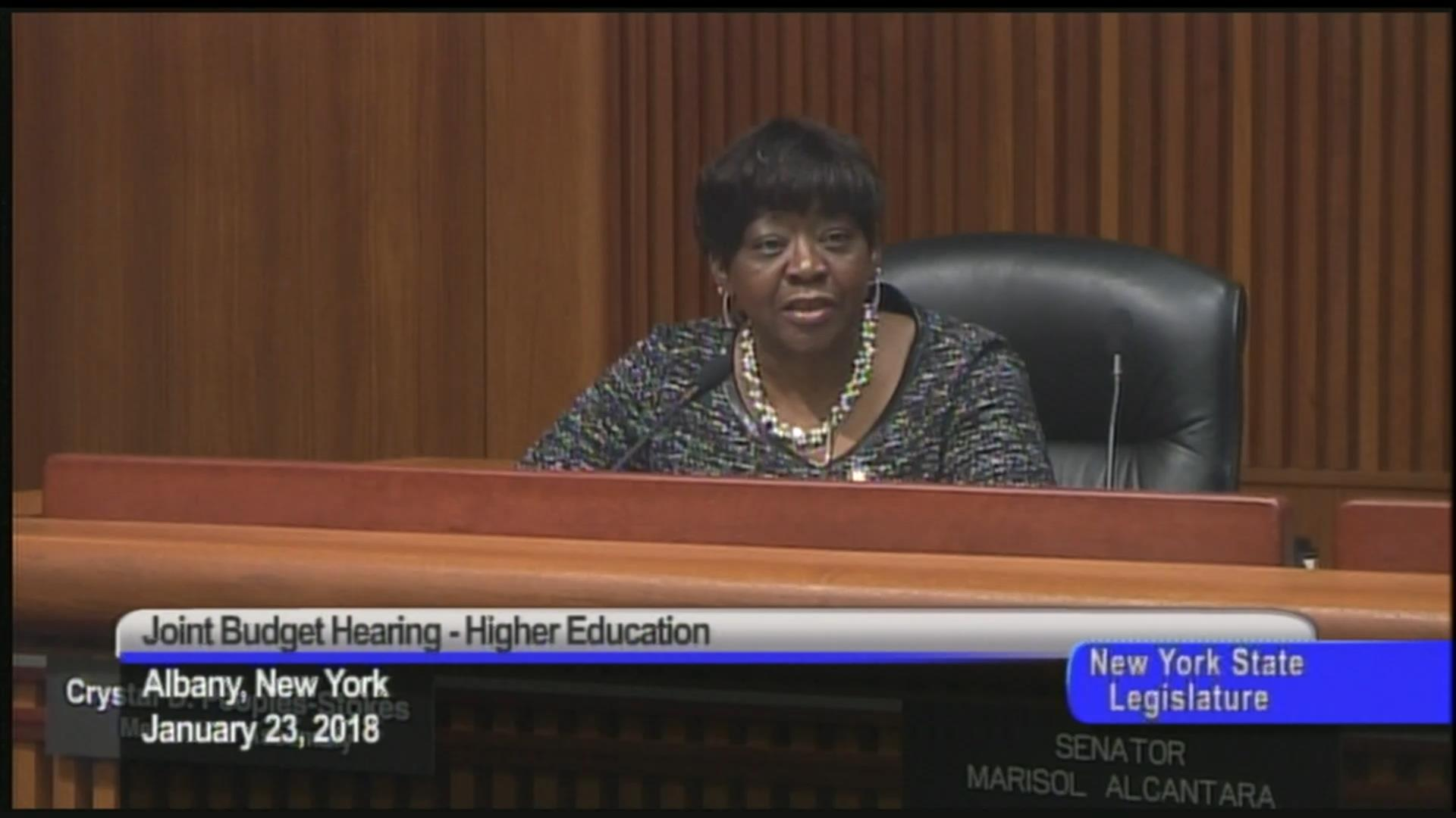 Assemblymember People- Stokes Discusses Funding in Higher Education