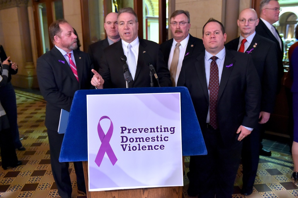 Assemblyman David DiPietro (R,C,I-East Aurora) at the Assembly Minority Task Force on Preventing Domestic Violence on Tuesday, January 23, 2018.<br />