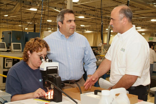 Assemblyman Giglio taking a tour of a local manufacturing plant.