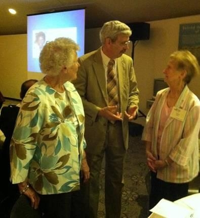 Assemblyman Andy Goodell meets with Patricia Baker and Mary Wisniewski during the 2013 Senior Citizens Day Celebration.