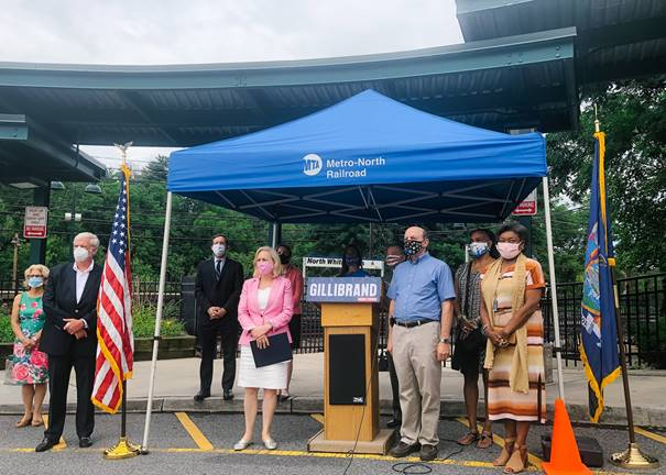 Gillibrand, MTA Leadership, NYS Senators and Assemblymembers Visit North White Plains Metro-North Station to Call for Federal Funding for MTA in Upcoming COVID-19 Relief Legislation