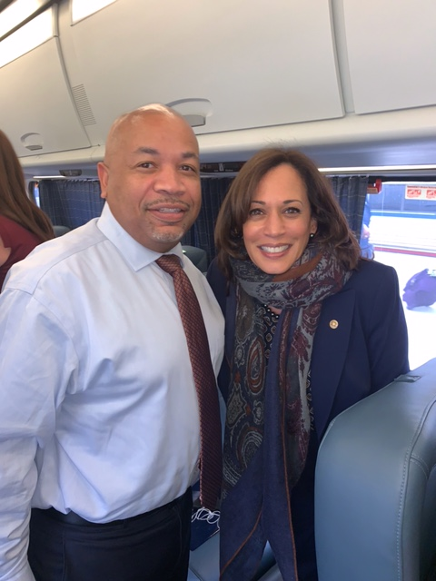 Pictured with Speaker Heastie in the second photo: Vice President Elect Kamala Harris.