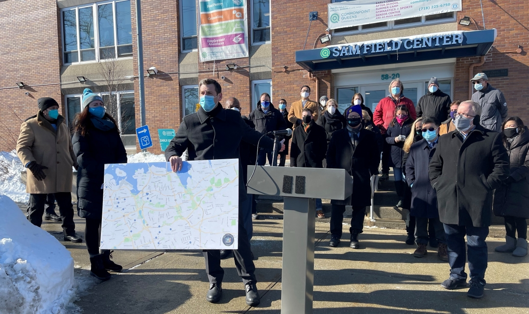 On February 8, 2021, Assemblyman Braunstein, along with local elected officials and civic leaders, held a press conference at Commonpoint Queens in Little Neck demanding the immediate opening of permanent vaccination locations in Northeast Queens.